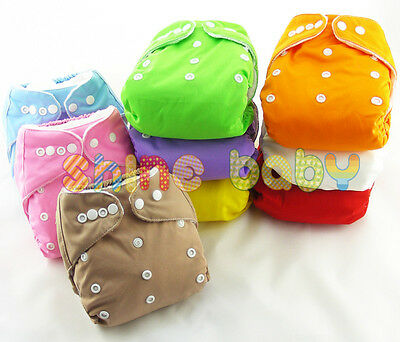 Reusable Baby Infant Nappy Cloth Diapers Soft Cover Washable One Size Adjustable