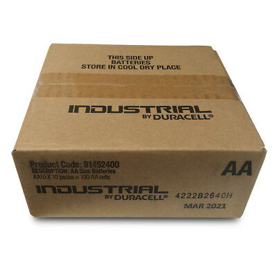 Duracell Industrial AA Batteries Box of 100