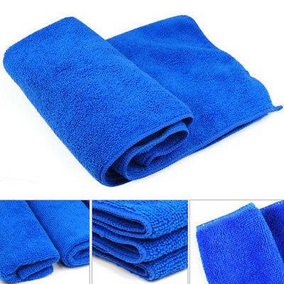 Large Blue Soft Microfiber Car Auto Home Care Cleaning Cloths Towel 30x70cm New