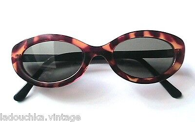 FRENCH TED LAPIDUS VINTAGE WOMAN SUNGLASSES - CAT EYES -TORTOISE - NEW/OLD STOCK