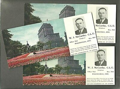 Lot 3 Vintage Ink Blotters Sun Life Assurance Co. Canada Hagersville, Ontario