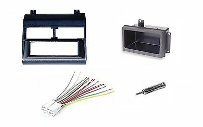 Chevy Pickup Truck 88-94 Blue Radio Stereo Dash Kit w/Wire Harness+Pocket+Ant