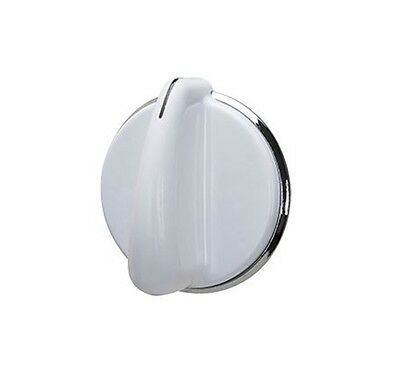 Washer Knob for GE 175D3296P001 White Silver Knob  - NEW