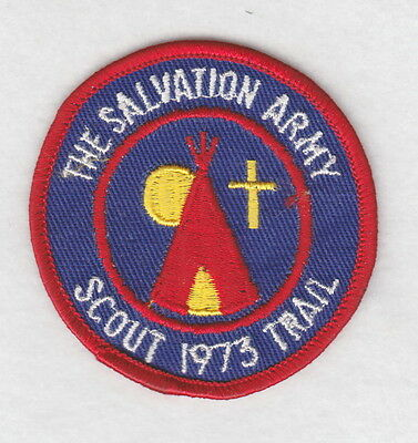 Salvation Army Patch:  Scout Trail, 1973