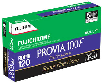 5 PACK Fuji Provia 100F Professional RDP III 120 Roll Colour Reversal Slide Film