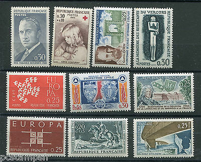 LOT 002 FRANCE, FRANKREICH, timbres années '60, neufs** LUXE, VF MNH STAMPS