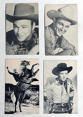 M599 Vintage: Lot of 4 ROY ROGERS Post & Arcade Cards RARE (c. 1950's)