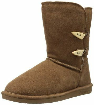 NEW BEARPAW Women's Abigail Boot, Hickory/Champaign, Size 5 M, $85