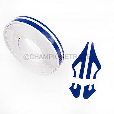 "385"" Blue Double Pin Stripe PinStriping tape Vinyl Decals stickers For Honda CT"