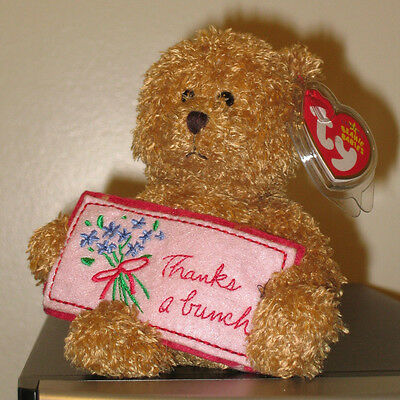Ty Beanie Baby ~ THANKS A BUNCH the Bear ~ Greetings Collection~ MINT TAGS