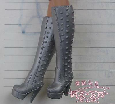 grey New Handmade boot shoes For Barbie Girl Doll Hot Free Ship a94