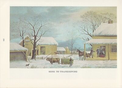 """WINTER SCENES/"""" MORNING COLOR Litho 1974 Vintage Currier /& Ives COUNTRY LIFE /""""AM"""