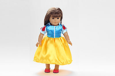 cute The snow white princes Handmade dress for 18 inch American Girl Doll b81