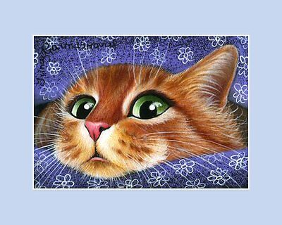 Ginger Cat ACEO Print My Teddy by Irina Garmashova