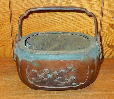 Old / Antique Chinese Bronze Hand Warmer - WORN