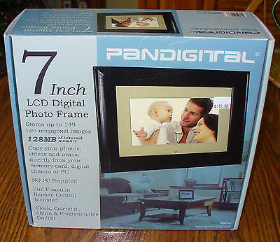 """Pandigital PAN70-0 7"""" LCD Digital Picture Frame, stores up to 149 images,  128MB"""