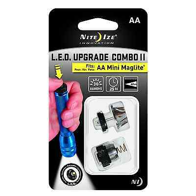 AA MINI MAGLITE BRIGHT LED UPGRADE BULB & ON OFF TAIL CAP SWITCH LUC2-07 NEW