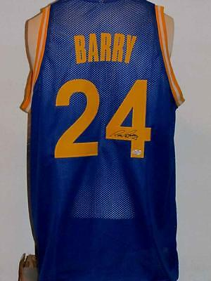 RICK BARRY SIGNED AUTOGRAPHED CUSTOM WARRIORS JERSEY COA WITH PICTURE PROOF