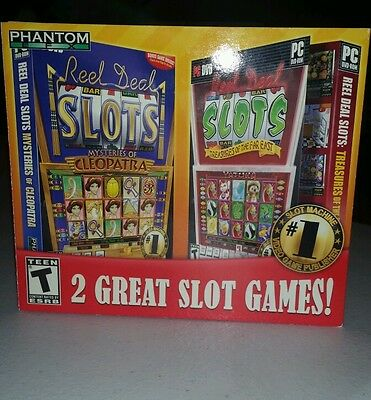 Reel Deal Slots Mysteries Cleopatra & Treasures the Far East Combo Pak pc game