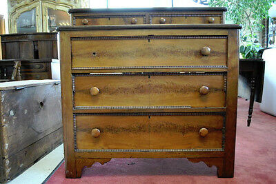 Pre Civil War Antique Mahogany Gentleman's Chest of Drawers Circa 1850