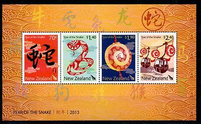 NEW ZEALAND 2013 YEAR OF THE SNAKE M/S MNH