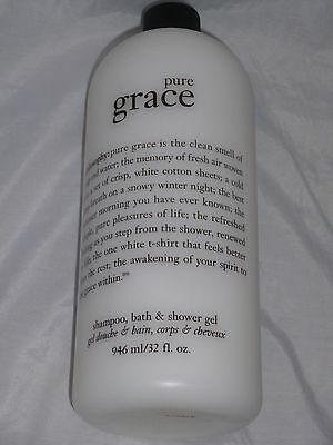 New! Philosophy Pure Grace Shampoo, Shower Gel & Bubble Bath 32 fl. oz Bottle!