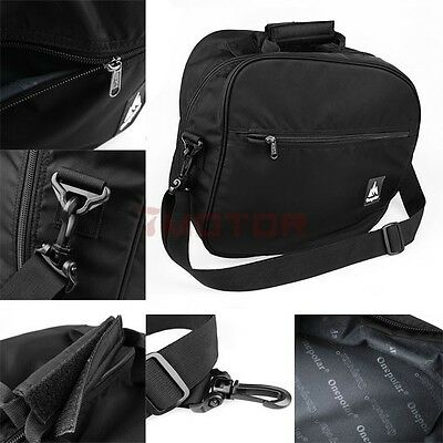 1X Motorcycle Black Heavy-Duty Soft Lining Nylon Deluxe Helmet Bag For Harley 7M
