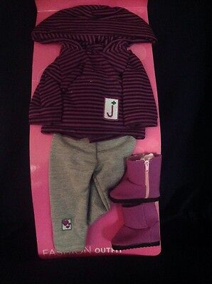 """Adora 18"""" Doll Clothes -  Junior Girl Scout Hoodie, Leggings And Boots"""