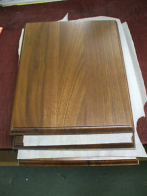 "lot of 3 Trophy Parts solid walnut 10 1/2"" x 13"" plaque boards"