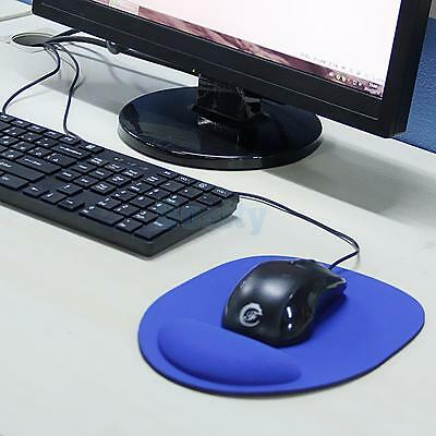 Blue Wrist Support Comfort Mouse Pad Mice Pad Mat Mousepad for Optical Mouse