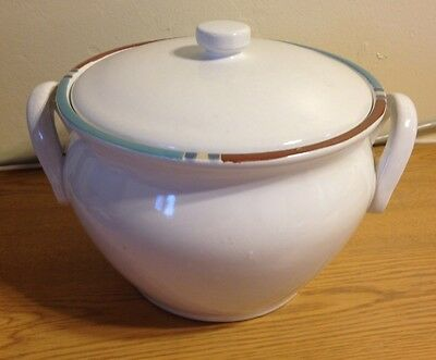 Dansk Mesa WHITE SAND SOUP TUREEN w/ LID LG COVERED BOWL EXCELLENT!