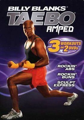 Billy Blanks Tae Bo EXERCISE DVD  AMPED Rockin' Abs, Buns & Sculpt - 3 Workouts!