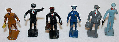 Lot of 6 Cast Metal Hand Painted Male Figures !