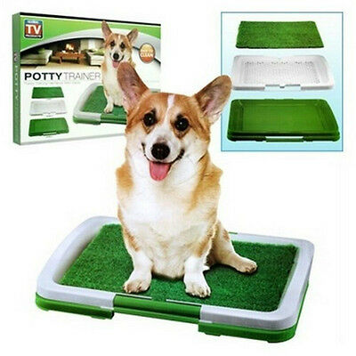 DOG PUPPY POTTY TRAINER INDOOR TRAINING GRASS PATCH PAD TOILET MAT