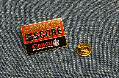 c.2004 NEW CONNECT AND SCORE Canon OFFICIAL SPONSOR OF THE NFL PIN/Pinback