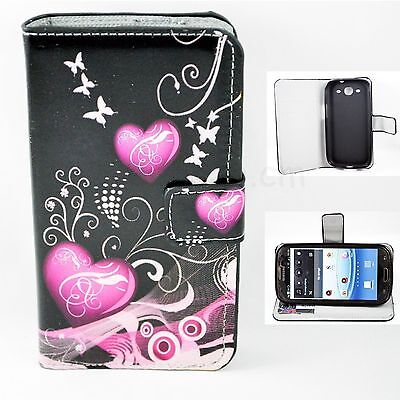 Folding Leather Rubber Wallet Stand Case Cover For Samsung Galaxy S3 S III i9300