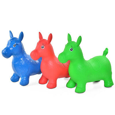 Kids Animal Space Hopper Happy Inflatable Horse Ride on Bouncy Soft Play Toys
