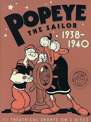 Popeye the Sailor: 1938-1940 - Second Volume 2 Two (DVD, 2008) - NEW!!