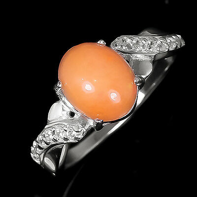 New Arrived! Natural Opal Sterling 925 Silver Ring Size 9.25/R5346