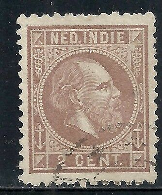 Netherlands Indies stamps 1870 NVPH 5G P.11 1/2x12 big holes  CANC  VF
