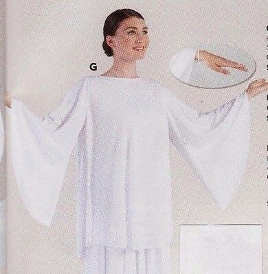 NWT Praise White Bell Sleeve Tunic Top Liturgical Praisewear  Large Child 85804