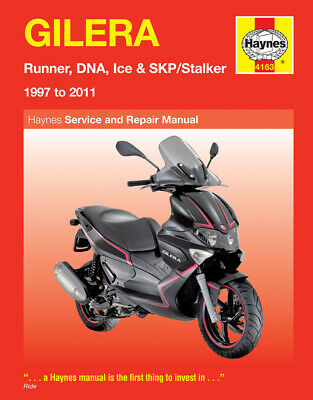 New Haynes Manual Gilera Dna 125  2001-03