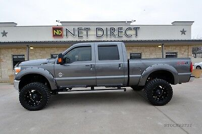 Ford : F-250 Lariat Crew Cab LIFTED Diesel 4x4 Truck 4 wd v 8 automatic new wheels tires bluetooth remote start navigation