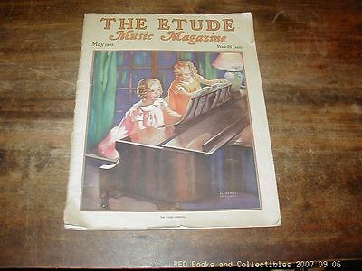 The Etude Music Magazine May 1933 Florence McCurd Cover Great Depression