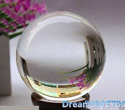 Hot Sell Asian Quartz Clear Crystal Ball Sphere 40MM + Stand