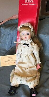 """Brinn's Collectible Porcelain Doll w/COA """"Country Road""""  Musical Edition.    Z"""
