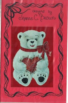 """""""Girl Bear with Heart"""" Pattern Packet by Jeanne C. Brown~OOP"""