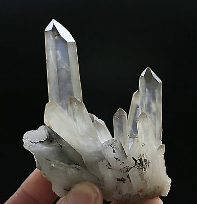 102g AAA+++ Clear Natural Beautiful White QUARTZ Crystal Cluster Specimen