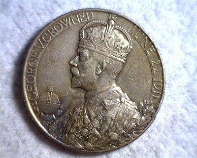 Great Britain 1911 Silver Coronation Medal for King George V