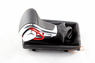 Brand New Leather Chrome Shift Knob AT Model For VW Audi A3 A4 A5 A6 2009-2012